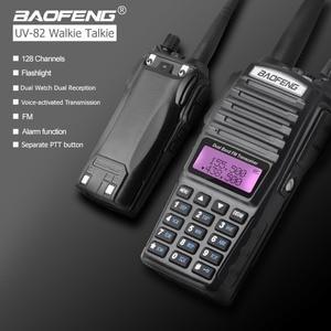 Image 3 - Baofeng UV 82 워키 토키 듀얼 PTT UV 82 휴대용 양방향 라디오 VHF UHF 햄 CB 라디오 방송국 1Pcs UV82 사냥 송수신기