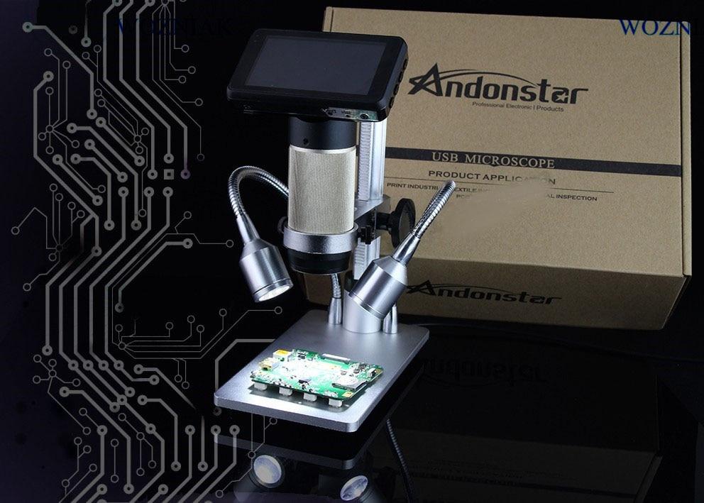 HDMI VGA microscope long object distance digital USB microscope for mobile phone repair soldering tool bga