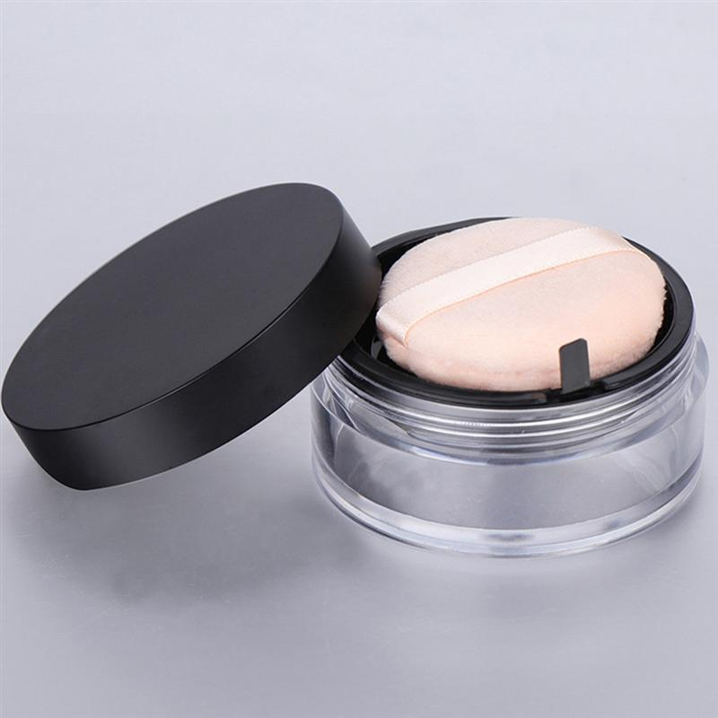 Image 2 - 20G Empty Powder Case Anti Leakage Double Layers Powder Puff Holder Makeup Powder Container with Mirror for Outdoors Home-in Refillable Bottles from Beauty & Health