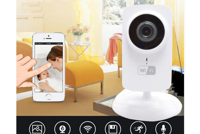 ФОТО New Wireless Wifi Baby Monitor Video 720P IP Camera Baby Eletronic support Night Vision TF slot for iPhone Android PC