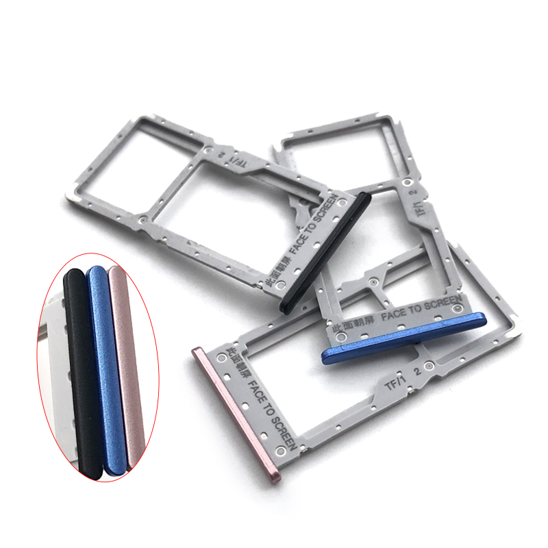 For Xiaomi Redmi Note 6 Pro Sim Cards Adapters Replacement Parts New Note6 Pro SIM Micro Card Tray Holder Slot