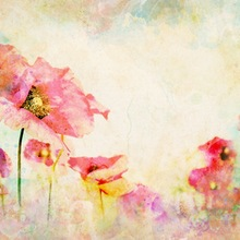 Fondo de fotografía Floral vintage flores de acuarela fondo de fotografía para recién nacido Niño estudio foto telones de fondo D-9547