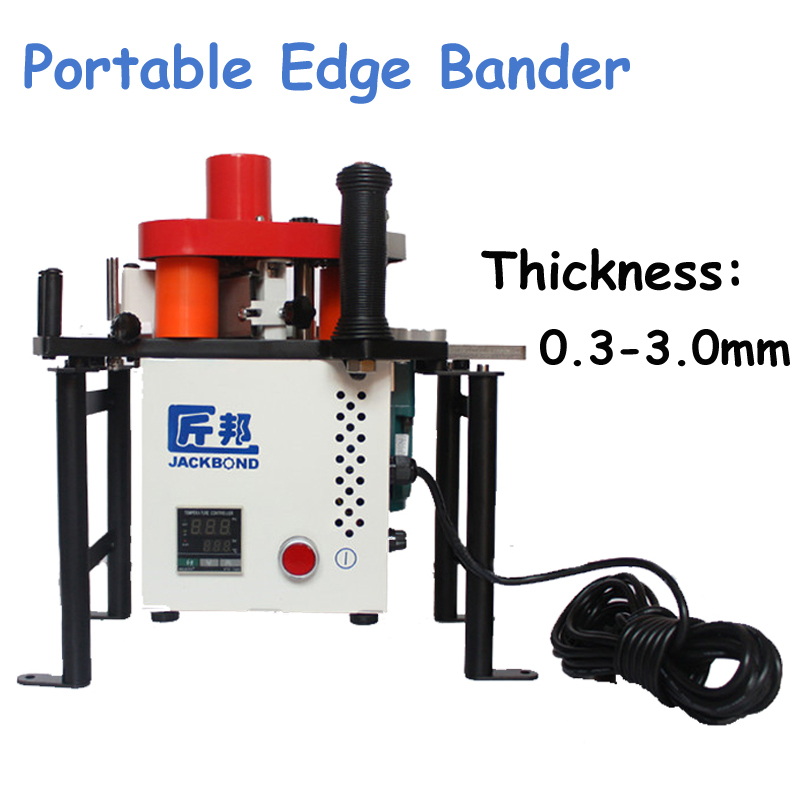 Portable Edge Bander 110V/220V Adhesive Edge Banding Machine for Straight-line or Curved Woodworking Machinery JBD80 straight line header sealing machine jb32s manual operation woodworking edge sealing machine straight arc head apparatus 1pc