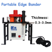 Portable Edge Bander 110V 220V Adhesive Edge Banding Machine For Straight Line Or Curved Woodworking Machinery