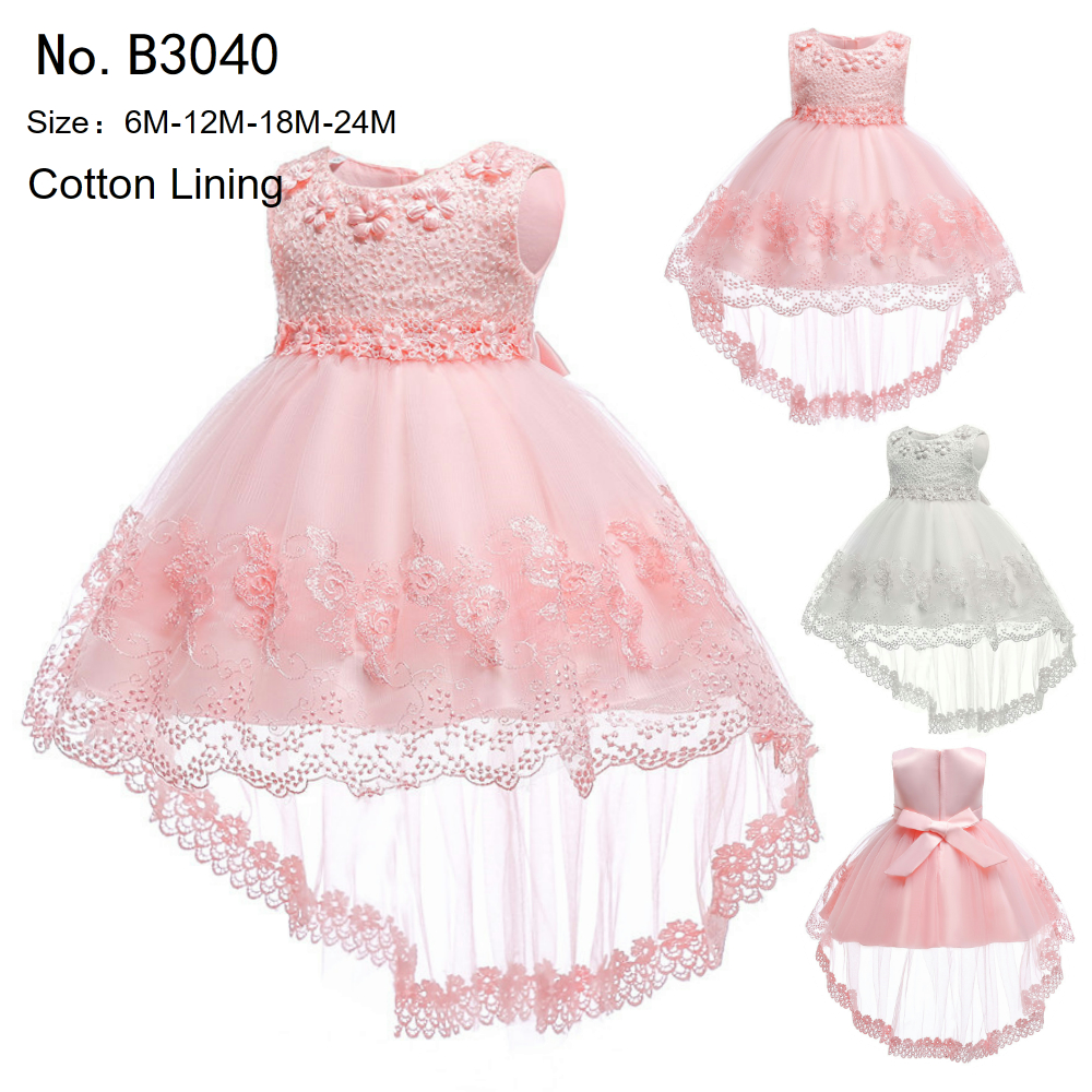 b286de4d7e3d Free Shipping Cotton Lining Infant Dresses 2018 New Style Ivory Baby ...