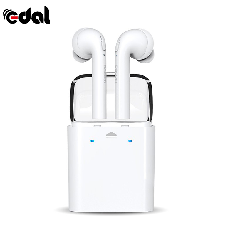 EDAL Original TWS True wireless Bluetooth Earbuds Earphone for iPhone 7 7 Plus Headset Double Twins Earphones For Samsung Xiaom edal tws headset true wireless bluetooth double twins earbuds earphone for iphone 7 earphones