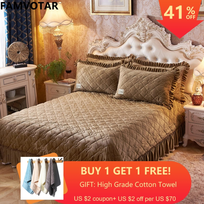 Famvotar 3-piece Luxury Quilt Set With Shams Geometric & Love Pattern Embroidery Patchwork Quilted Bedspreads Queen SizeFamvotar 3-piece Luxury Quilt Set With Shams Geometric & Love Pattern Embroidery Patchwork Quilted Bedspreads Queen Size