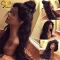 8A Brasileiro Glueless Cheia Do Laço Perucas de Cabelo Humano Para A Mulher Preta Onda de Água Virgem Dianteira do laço Perucas Com Cabelo Do Bebê Cheia Do Laço perucas