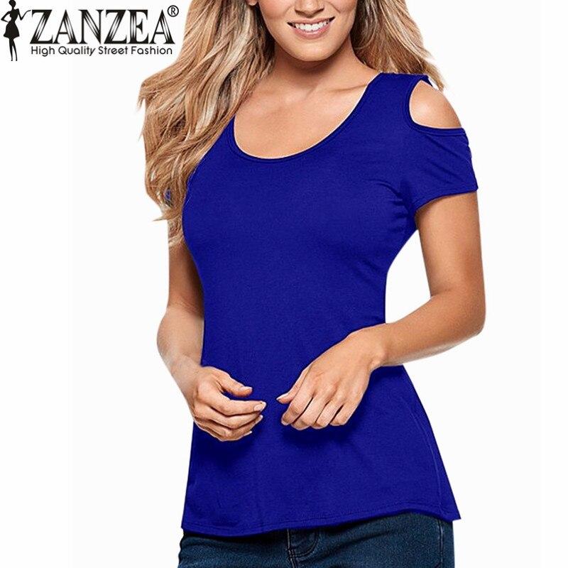 ZANZEA 2018 Ljeto Blusas Seksi žene bluze čipke kukičanje kratki - Ženska odjeća - Foto 2