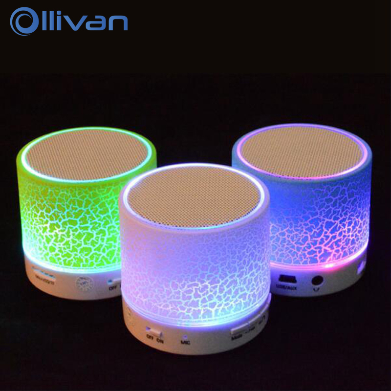 Ollivan A9 LED Bluetooth Speaker Mini Speakers Hands Free Portable Wireless Speaker With TF Card Mic USB Audio Music Player getihu portable mini bluetooth speakers wireless hands free led speaker tf usb fm sound music for iphone x samsung mobile phone