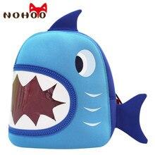NOHOO Wasserdichte Schultaschen Blau 3D Shark Neopren Kinder Baby Taschen Cartoon Tier Kinder Schultaschen Für Mädchen Boys-25