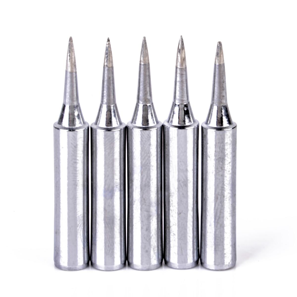 5pcs 900m-T-I Soldering Iron Tips Lead Free Replacement Soldering Tools Solder Iron Tips Head For Soldering Repair Tool