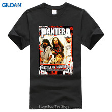 Create Shirts  MenS Crew Neck Regular Pantera Group Sketch Black Short Top T Shirt