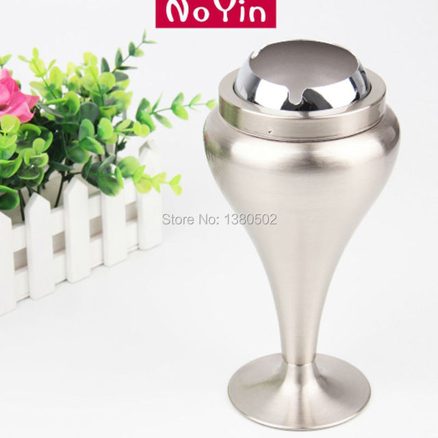 New Arrive Standing Novelty Stainless Steel Metal Smoking Ashtray ...