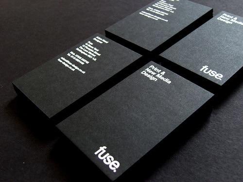 2016 Heißer Schwarz Karton Cmyk Visitenkarten Drucken Design