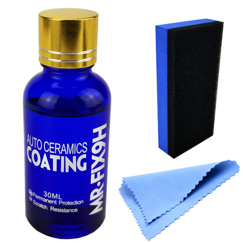 Car Liquid Ceramic Coat Hydrophobic Glass Coating Motocycle Paint Care Anti-scratch Auto Detailing Glasscoat Car Polish(China)