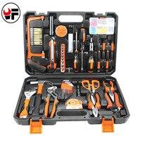 102 Pcs/Set Household Tool Kit for car Auto Repair Hand Tool box For Metalworking Saw Screwdriver Plier Herramientas
