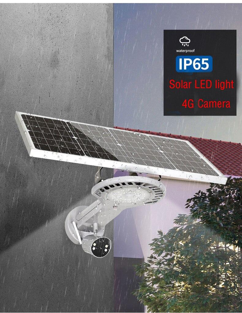 Yobang sécurité étanche extérieure 1080 P 2.0 M batterie solaire Surveillance de sécurité 4G SIM caméra avec lampe de lumière LED PIR