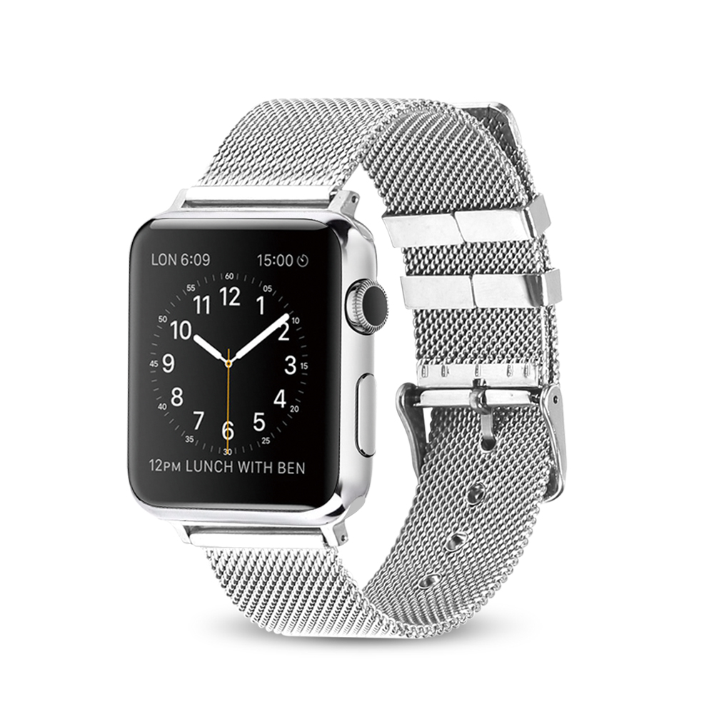 XIYUZHIY milanese loop for apple watch Series 1 2 band for iwatch stainless steel strap Magnetic adjustable buckle with adapters цена