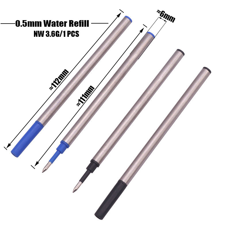 5 Pcs Metal Material Refill 0.5mm Tip INTERNATIONAL STANDARD Length 112mm Diameter 6mm With Pen Protection Student Stationery