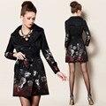 2016 venda quente mulher jaqueta casaco casaco de Jacquard bordado Floral C201