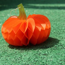 10pcs Pumpkins Halloween Decoration Tissue Paper Honeycombs Fruits Party Supplies Countryside Style Home&Party&Garden