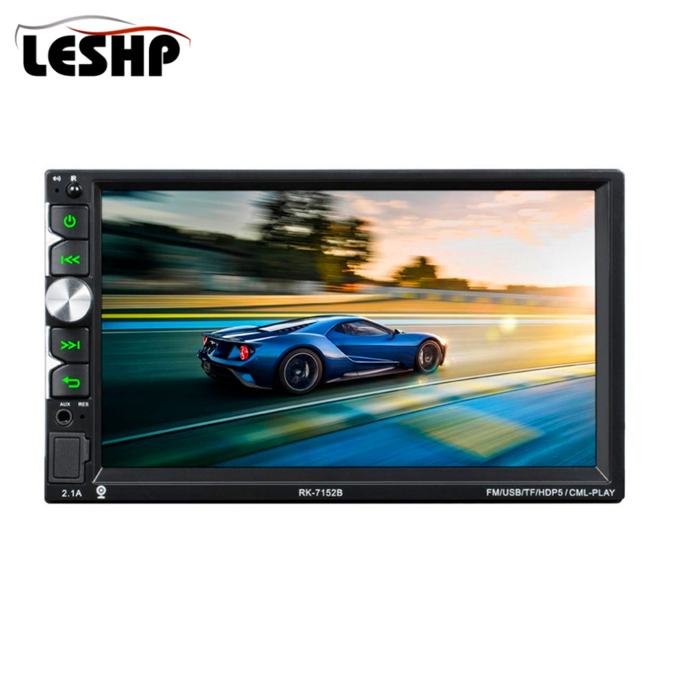 RK-7152B Full HD 1080P Bluetooth Car MP5 Player 7 Inch 1024*600 Touch Screen Display with Seven Color Backlight 2Din Car Radio