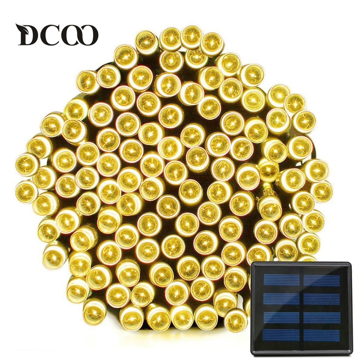 Dcoo Solar LED String Lights 22meter 200 LEDs Waterproof 8 Modes Fairy Christmas Lights Outdoor Lighitng