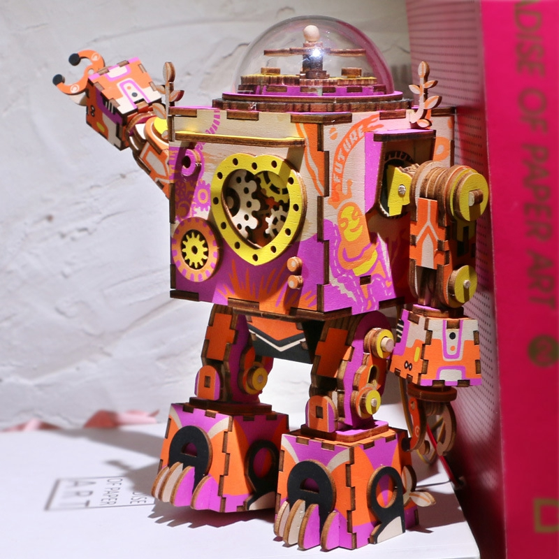 Robotime-Limited-Edition-Colorful-Robot-Model-Building-Kit-Wooden-Steampunk-Music-Box-Toy-Gift-for-Children (3)