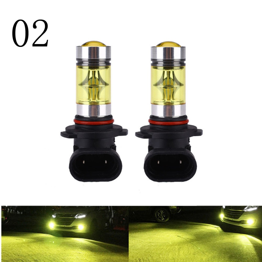 2 Pcs 100W H4 H1 H3 H7 H11 LED Bulb 20 SMD Car Fog light 12V ~ 24V Car Light White 3000K Yellow Amber 3000K ,H16 100W 24V 11571210 68w 1157 4 5w 250lm 68 smd 3528 led white light car light dc 12v 2 pcs