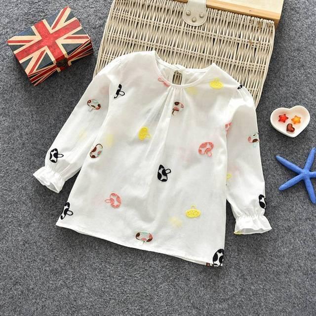 תינוק בנות חמוד אביב סתיו חולצה יילוד פעוטות ילדים ארוך שרוול חולצות