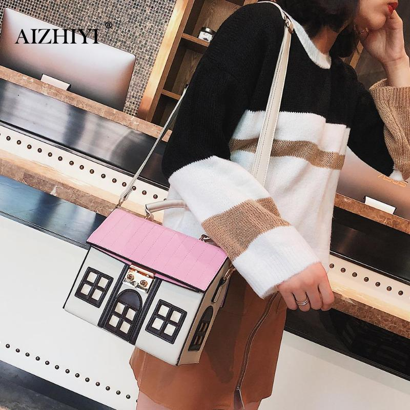 Personality House Shaped Leather Women Handbags Fashion Creative Girl Messenger Crossbody Bag  Shoulder Bag  Bolsa Feminina