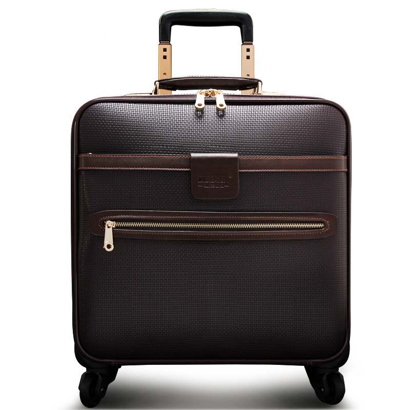 LeTrend Men Business Rolling Luggage Spinner 16 inch Cabin Trolley Password Suitcase Wheels High capacity Travel Bag Trunk