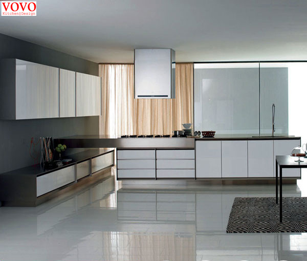 High Gloss White Lacquer Kitchen Cabinets