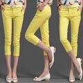 #1605 Candy color Summer pants 2017 Thin White/Black trousers women Casual Skinny Slim Fashion Pantalon femme Pencil pants