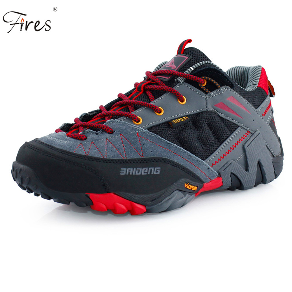 ФОТО Fires Outdoor Sport Hiking Shoes Men Breathable Waterproof Climbing Boots New Style  Sports Climbing Trekking Sneakers Shoes