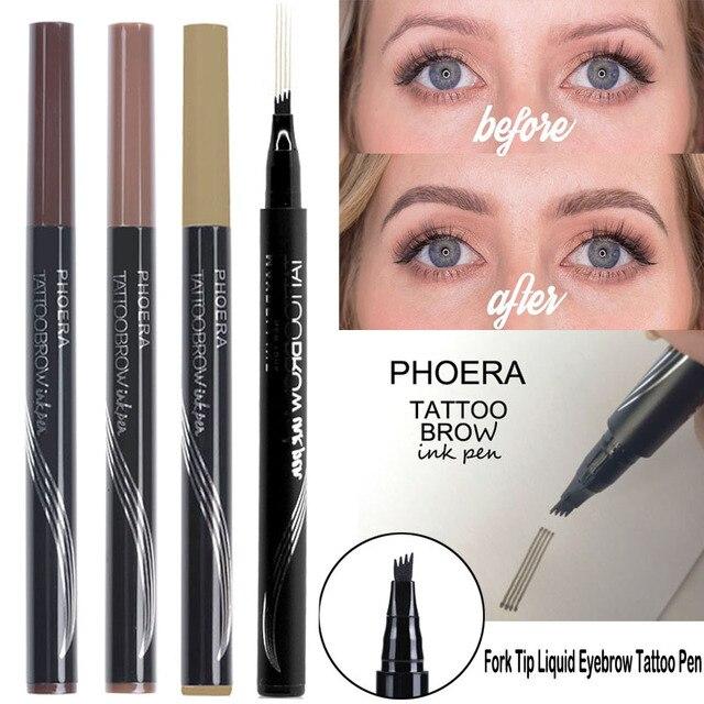 Hot Selling Henna Tattoo Liquid Eyebrow Pencil Waterproof Long
