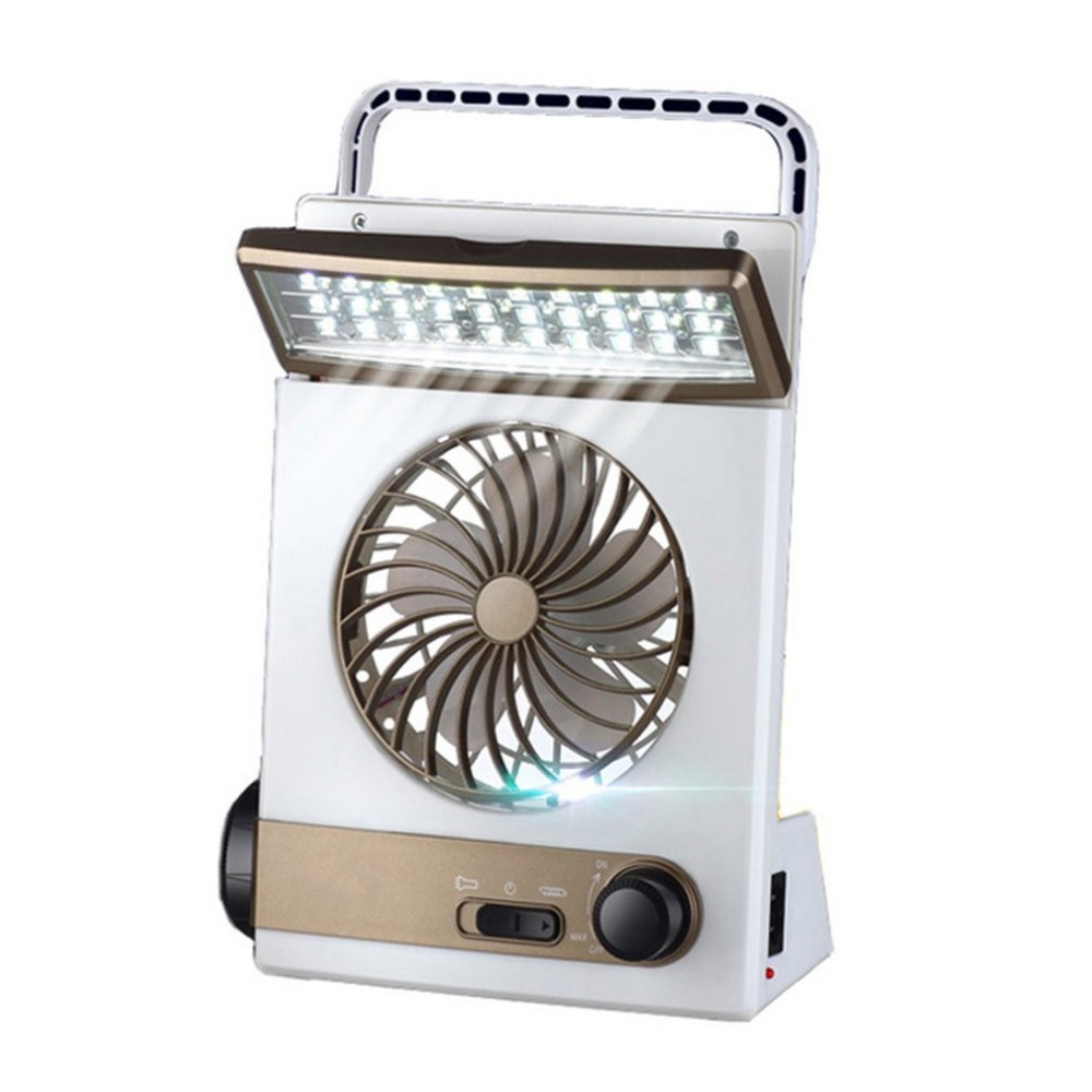 Solar Power Rechargeable Multifunctional Cooling Fan And LED Light Tent Lantern Lamp Cooler Mini Charging Fan For Camping