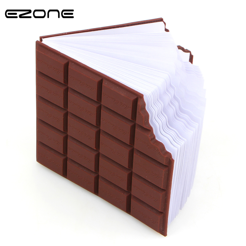EZONE 1PC Kawaii Convenient Stationery Notebook Chocolate Memo Pad Sticky Notes DIY Cover Notepad Office School Supplies Gifts