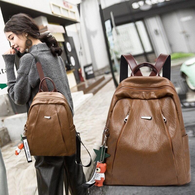 Sac à dos femme sac à dos en cuir Style collège sac à dos école sacs à dos Vintage étudiant cartable haute capacité