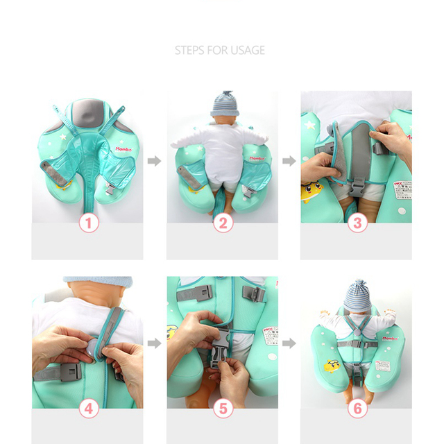 Solid No Inflatable Safety for accessories Baby Swimming Ring floating Swim ring float Suitable for 0-2-3-6 years old 3