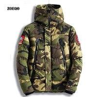 ZOEQO new fashion winter Men Jacket Medium Long spring Casual Coat Green Military Camouflage Jackets Thick Warm Down Parkas