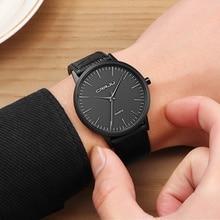 Men Watches Luxury Brand CRRJU Minimalist Ultrathin Wrist Watch Men Watch Waterproof Men's Watch Quartz Clock Relogio Masculino