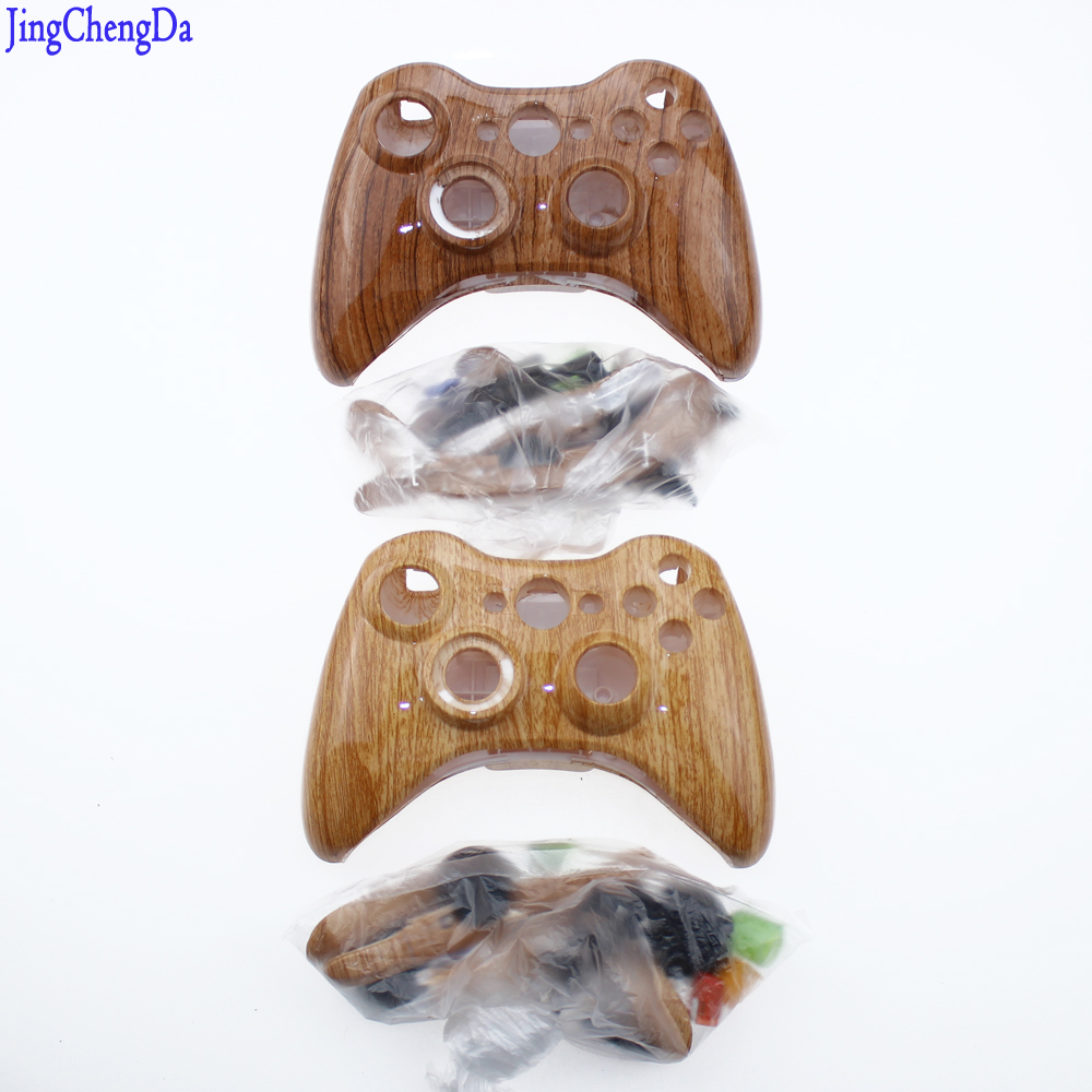 Wood grain For Xbox360 wireless controller housing shell cross button whole housing cover case for Xbox 360 Joystick 20 x new lb rb button bumper resistance button for xbox 360 wireless and wired controller joystick for xbox360 replace