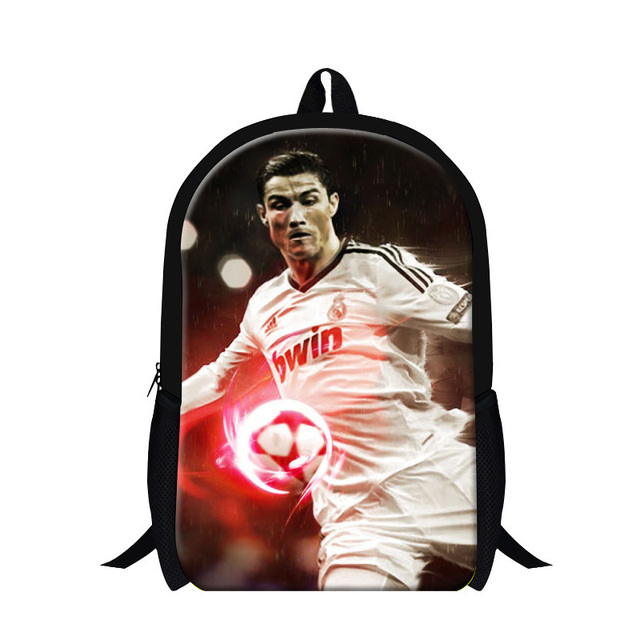 0c018d29d86 Hot!!!3D printing football star cristiano ronaldo backpack student leisure  travel bags school backpack for boys, free shipping