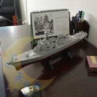 Children's toys ship aircraft carrier battleship warship model military model missile destroyers finished with bracket