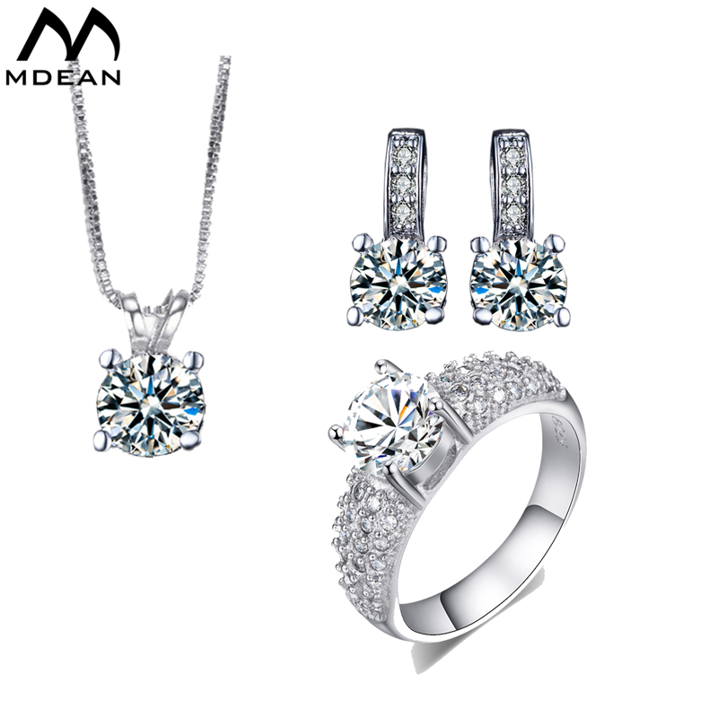 MDEAN White gold Filled Wedding s