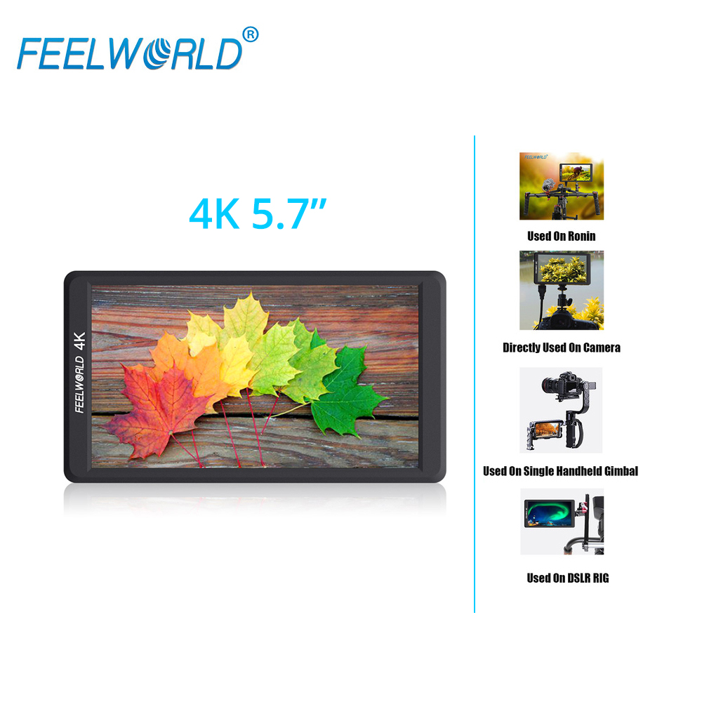 F570 5.7 4K Mini camera Monitor IPS Full HD 1920x1080 LCD monitoring with HDMI Input Output for DJI ZHIYUN Gimbal Stabilizer