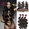 Brazilian Body Wave With Frontal Closure Bundle Lace Frontal Closure With Bundles Brazilian Virgin Hair With Closure Human Hair
