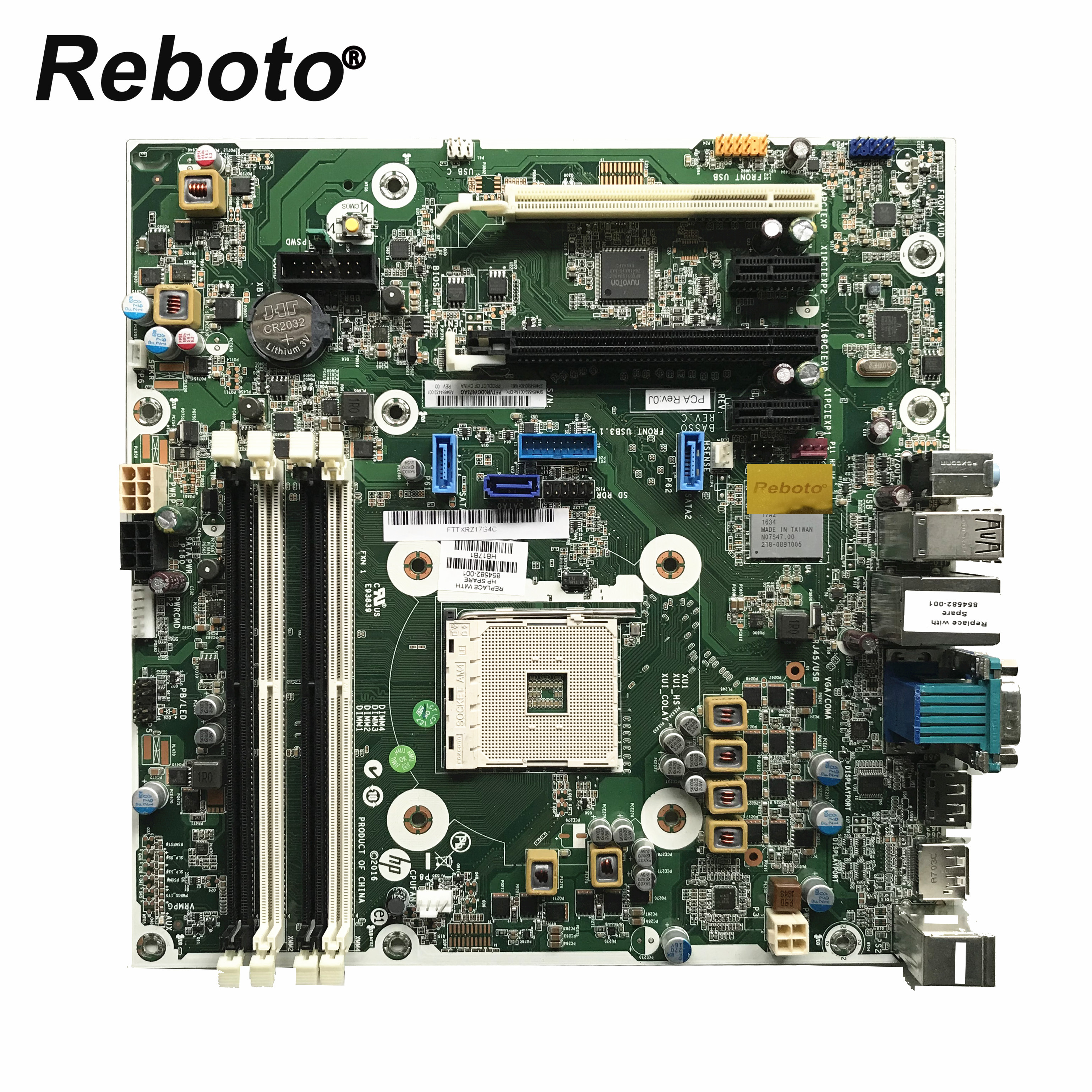Original For HP 800 805 AM4 Desktop Motherboard 854582 001 854582 601 854432 001 MB 100